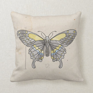 Insects Series- Dragonfly + Butterfly 2 for 1 Throw Pillow