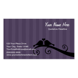 Inséparables - noir gris pourpre carte de visite standard