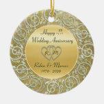 Insérez l'anniversaire de mariage d'années décoration de noël