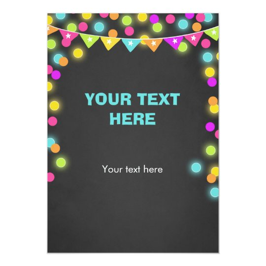 Insert card Neon Glow in the Dark Table sign Tag