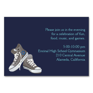 Insert Card Sneakers Invitation Dark Blue