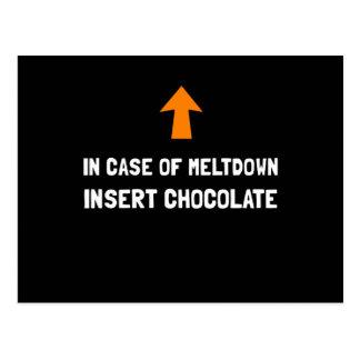 Insert Chocolate Postcard