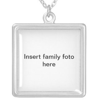 Insert family foto here silver plated necklace
