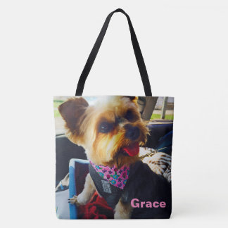 Insert Your Image Here Personalized Pooch Photo Tote Bag
