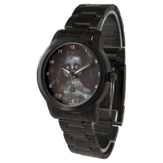 Insert Your Own Image Coolest  Afraid Doll Scary Watch