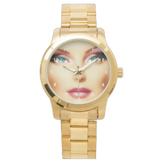 Insert Your Own Image Posh DIY Gold Wrist Watches