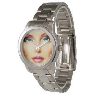 Insert Your Own Image Unisex DIY Silver Bracelet Wrist Watches