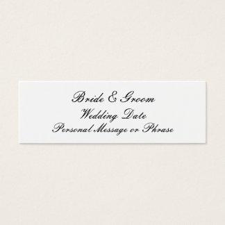 Insertion de rappel de mariage pour des mini carte de visite