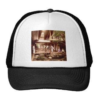 Inside a Japanese Tea House Vintage Old Japan Trucker Hat