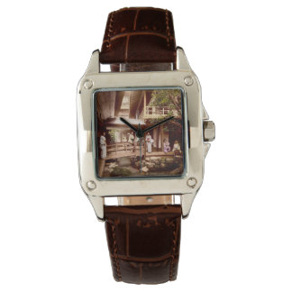 Inside a Japanese Tea House Vintage Old Japan Wrist Watch