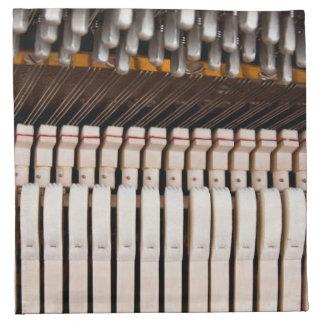 Inside a piano napkins