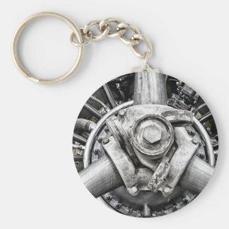 Inside a propeller keychain