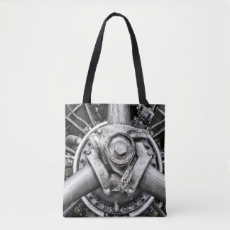 Inside a propeller tote bag