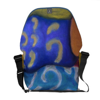 Inside and Out – Azure and Crimson Passage Courier Bag