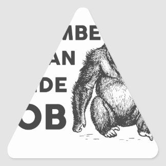 Inside Job Harambe Triangle Sticker