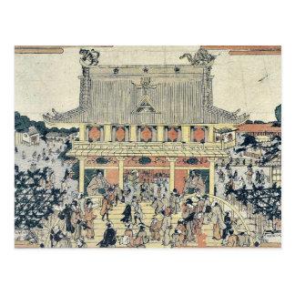 Inside Kameido Tenmangu Shrine by Tamagawa,Shucho Postcard