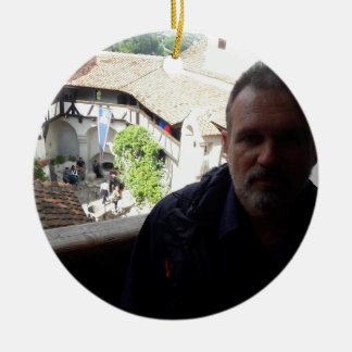 Inside look at Bran Castle. Dracula? Ceramic Ornament