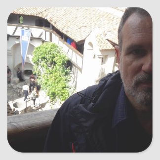 Inside look at Bran Castle. Dracula? Square Sticker