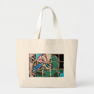 Inside Looking Out Mosaic Graffiti Large Tote Bag