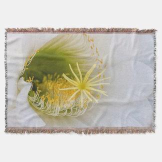 Inside of an Echinopsis in bloom Throw Blanket