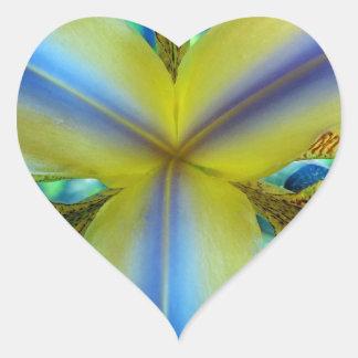 Inside of Iris Heart Sticker