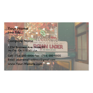 Inside Of Pike Place Market In Seattle Business Card Template