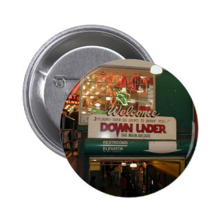 Inside Of Pike Place Market In Seattle Pinback Buttons