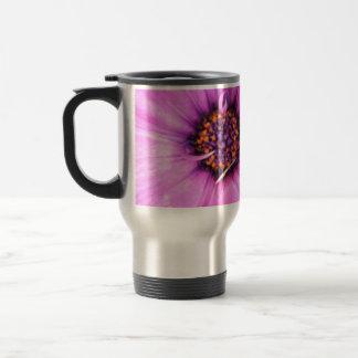 Inside of Pink Purple Gerbera Daisy Flower Nature Stainless Steel Travel Mug