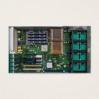 inside server computer business card