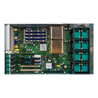 inside server computer pack of standard business cards