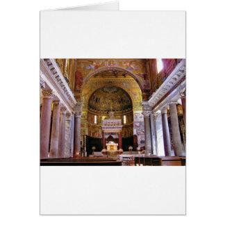 Inside the church yeah card