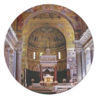 Inside the church yeah plate