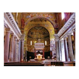 Inside the church yeah postcard