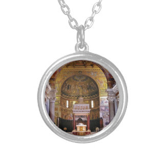 Inside the church yeah silver plated necklace