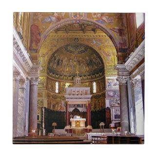 Inside the church yeah tile