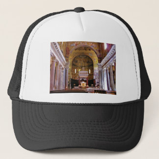 Inside the church yeah trucker hat