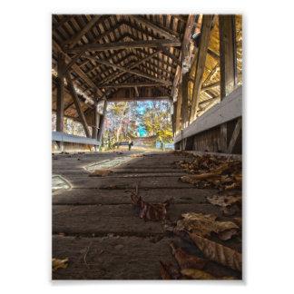 Inside the Mink Hollow Covered Bridge, Ohio Photo Print