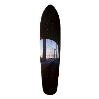 Inside tunnel skate board decks