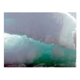 Inside view of a melting ice berg postcard