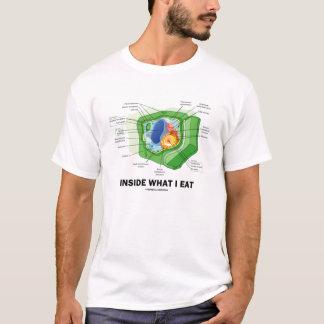 Inside What I Eat (Plant Cell Vegetarian Humor) T-Shirt