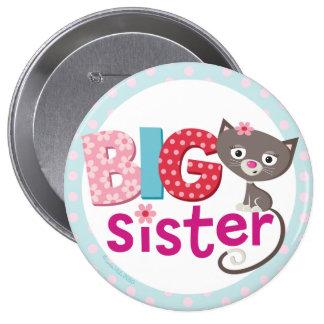 Insigne/bouton de grande soeur macaron rond 10 cm