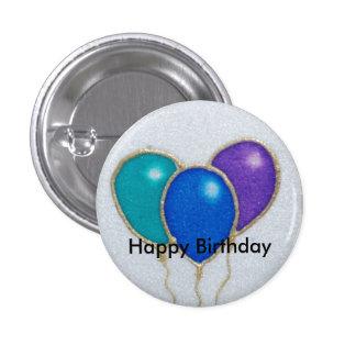 Insigne de bouton de joyeux anniversaire de ballon macaron rond 2,50 cm