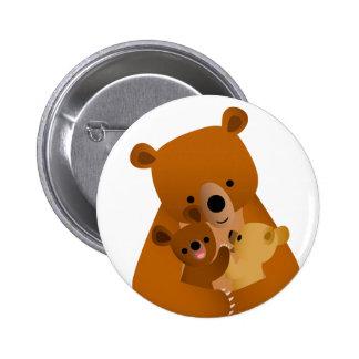 Insigne de bouton de maman Bear Macaron Rond 5 Cm