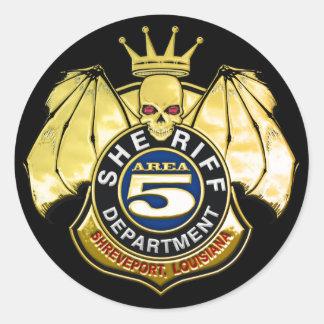 Insigne de la région 5 de shérif adhésif rond
