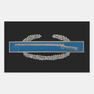 Insigne d'infanterie de combat sticker rectangulaire