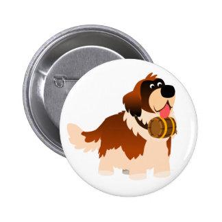 Insigne mignon de bouton de St Bernard de bande de Macaron Rond 5 Cm