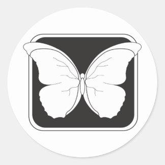 insigne-papillon sticker rond