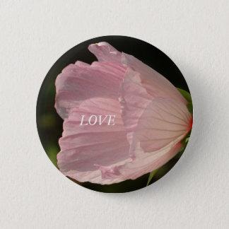 Insigne rond de fleur de photo rose d'AMOUR Macaron Rond 5 Cm