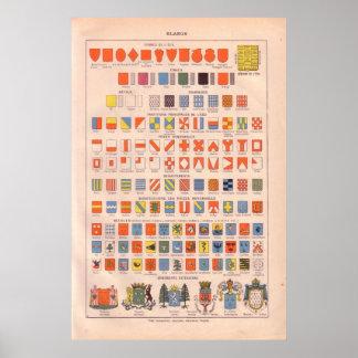 Insignes vintages et emblèmes 1920 posters