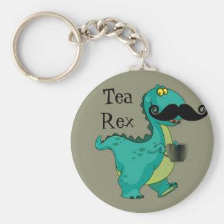 Insinuation drôle de bande dessinée de dinosaure d porte-clé rond